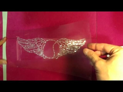 How To Make A Tribal Rhinestone Sport Shirt With Wings (The rhinestone world) Sticky Flock