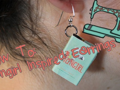 How To Make Book Earrings | Inspired by Rainbow Rowell's Fangirl