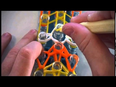 How to make the halloween Rainbow Loom Candy Corn Bracelet NEW DESIGN ( New design made by me)