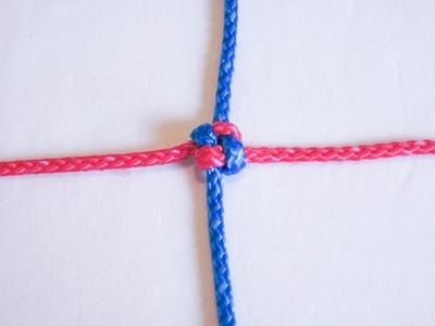 How To Tie A Square Knot (Friendship Knot)