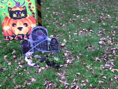 I have finished my halloween decorations outside