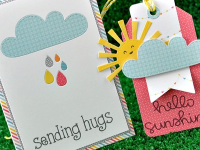 Intro to Spring Showers + a tag and card from start to finish { Lawn Fawn }