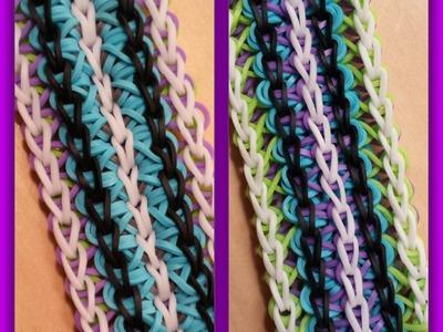 "New ""Five Spice"" Rainbow Loom Bracelet.How To Tutorial"
