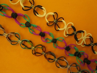 Rainbow Loom Butterfly Link Bracelet. Hook and Loomless. Easy and Fun Bracelet.