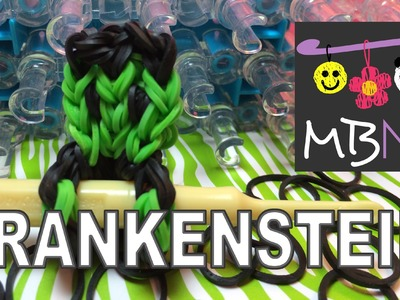 Rainbow Loom Frankenstein Monster Charm - Pencil Hugger #9