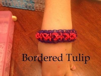 Rainbow Loom NEW Bordered Tulip bracelet
