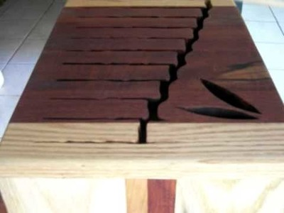 Solid Rosewood,Cherry, and Oak Tongue Drum, by Veronica. A.