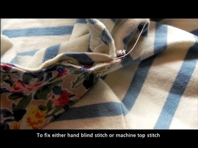 T-shirt series: How to make and attach a collar
