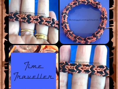 Time Traveller Bracelet Tutorial (Rainbow Loom or Monster Tail)