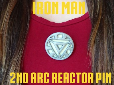 2nd Arc Reactor Pin {Iron Man} - Polymer Clay!