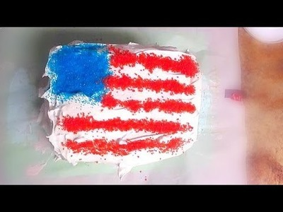 4TH OF JULY ICE CREAM CAKE RECIPE!