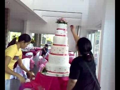 "Best ""Foundant Cake"" 6 layered cake, actual design presentation"