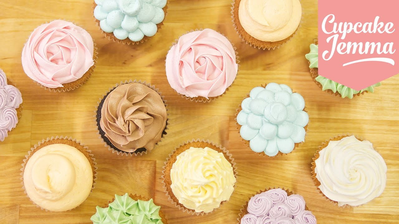 Buttercream Piping Tips & Techniques | Cupcake Jemma