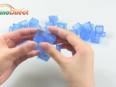 Clear Plastic DIY Brain Teaser Magic IQ Cube - dinodirect