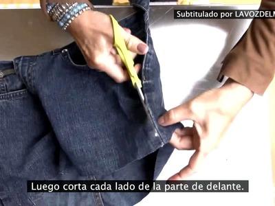Cómo hacer un delantal de jardinería con unos jeans