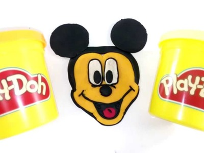 COMO HACER MICKEY MOUSE CON PLASTILINA PLAY DOH.HOW TO MAKE A MICKEY MOUSE WITH PLAY DOH PLASTICINE