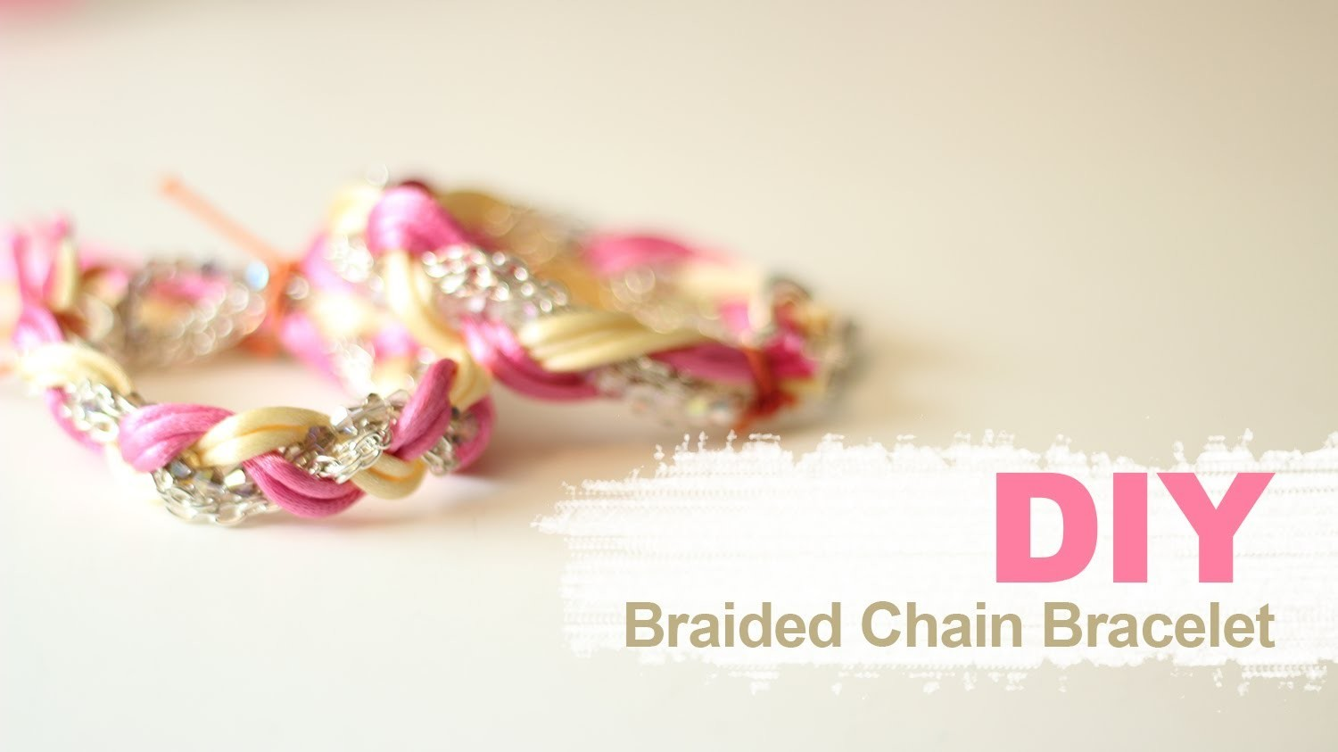 DIY Armcandy: Braided Chain Bracelet
