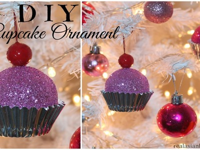 DIY Cupcake Ornaments for Christmas ❅ ❅
