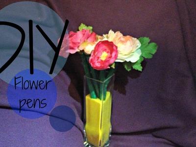 DIY| How to make flower pens