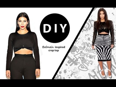 DIY: Kim Kardashian Balmain inspired Crop Top
