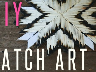 DIY Navajo Style Matches Wall Art