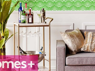 DIY PROJECT: Faux marble bar cart - homes+