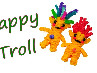 Happy Troll Tutorial by feelinspiffy (Rainbow Loom)