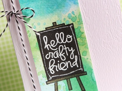 Hello Crafty Friend - Make a Card Monday #207