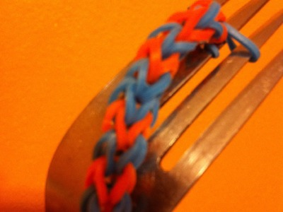 Hexafish minus one -  Bracelet  make on a fork - rainbowloom