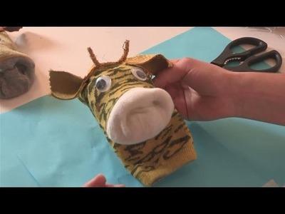 How To Create A Giraffe Sock Puppet