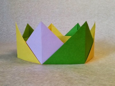 How to make a Crown Origami? (Crown Paper Folding step by step)