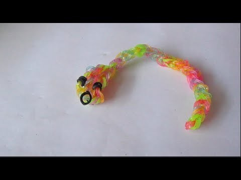 How to make a snake charm | rainbow loom