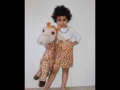 How to make an easy Dress or Giraffe Costume for Baby Girl