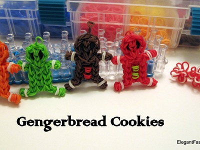 How to make Gingerbread Boy Cookies on Rainbow Loom