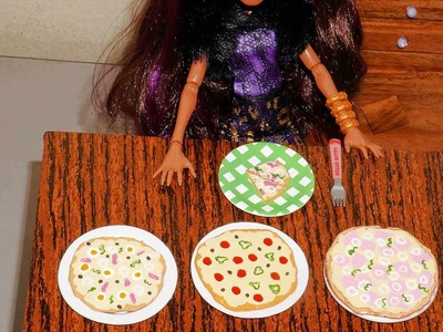 How to make pizza (with hot glue) for doll (Monster High, Barbie, etc)