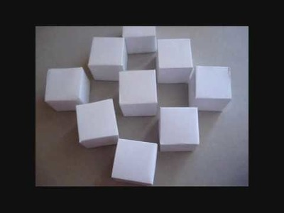 How to make the origami moving cubes