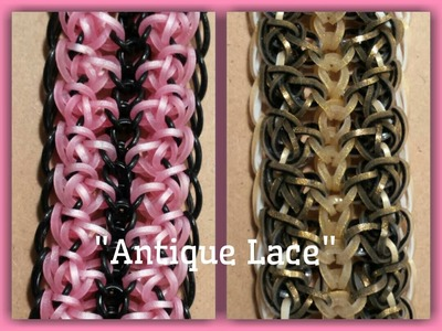 "New ""Antique Lace Hook Only Rainbow loom Bracelet.How To Tutorial"