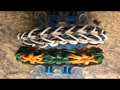 *NEW* How to Make a Rainbow Loom Liberty Starburst (Reversible Liberty Twist + Starburst in 1)