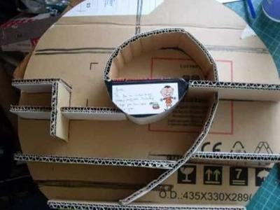 NEW! Make a Mini Circular Cardboard Shadowbox UPDATED!