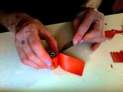 Orange Monster Face in Fimo Premo Polymer Clay Millefiori