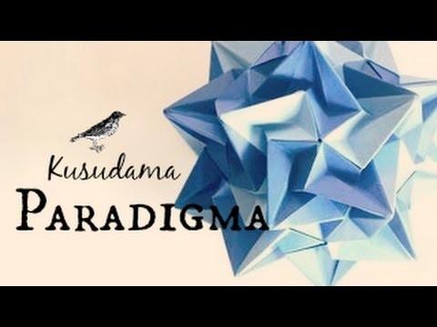 Origami ball. Kusudama Paradigma (Ekaterina Lukasheva)