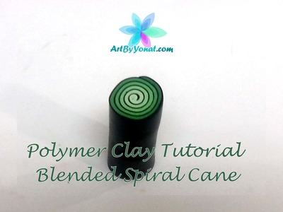 Polymer Clay Tutorial - How to Make a Blended Spiral Cane - Lesson #8