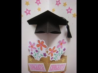 Pop up graduation hat card