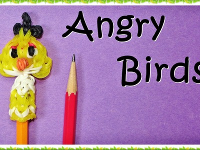Rainbow Loom Angry Birds Pencil Topper Charm -How to make