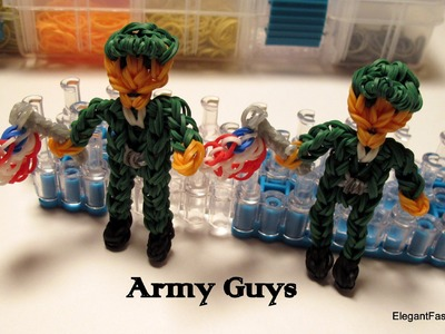 Rainbow Loom Army Action Figure - How to