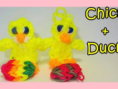 Rainbow Loom Chick + Duck Charms