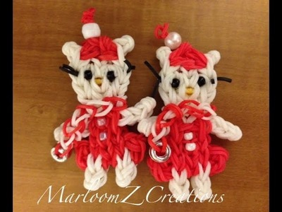 Rainbow Loom Christmas Hello Kitty Doll or  charm