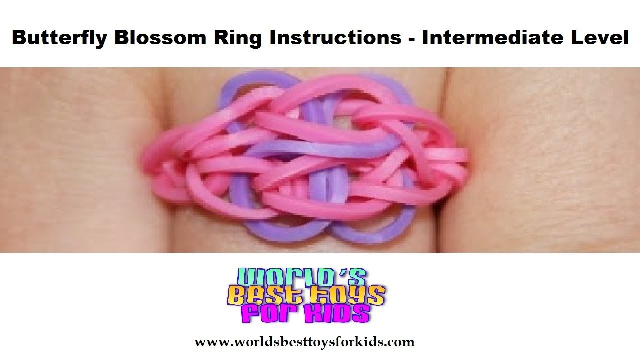 Rainbow Loom Rubber Band Refill - Butterfly Blossom Ring Instructions