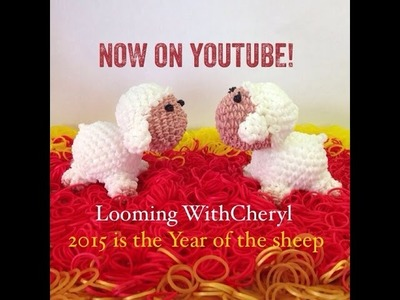 Rainbow Loom Sheep - Loomigurumi - Looming WithCheryl