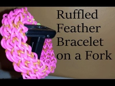 Ruffled Feather Bracelet on two forks